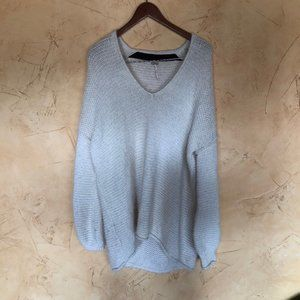 Free people knit over sized sweater white/cream
